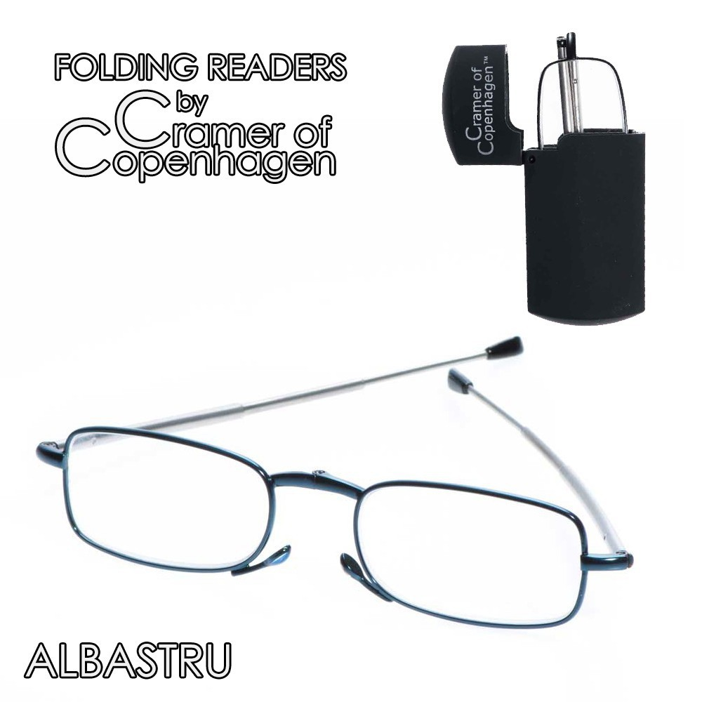 folding readers albastru