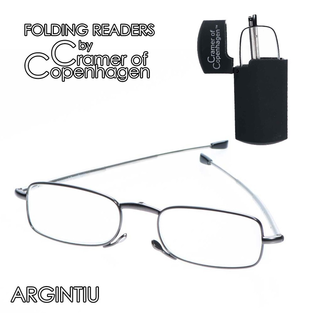 folding readers argintiu