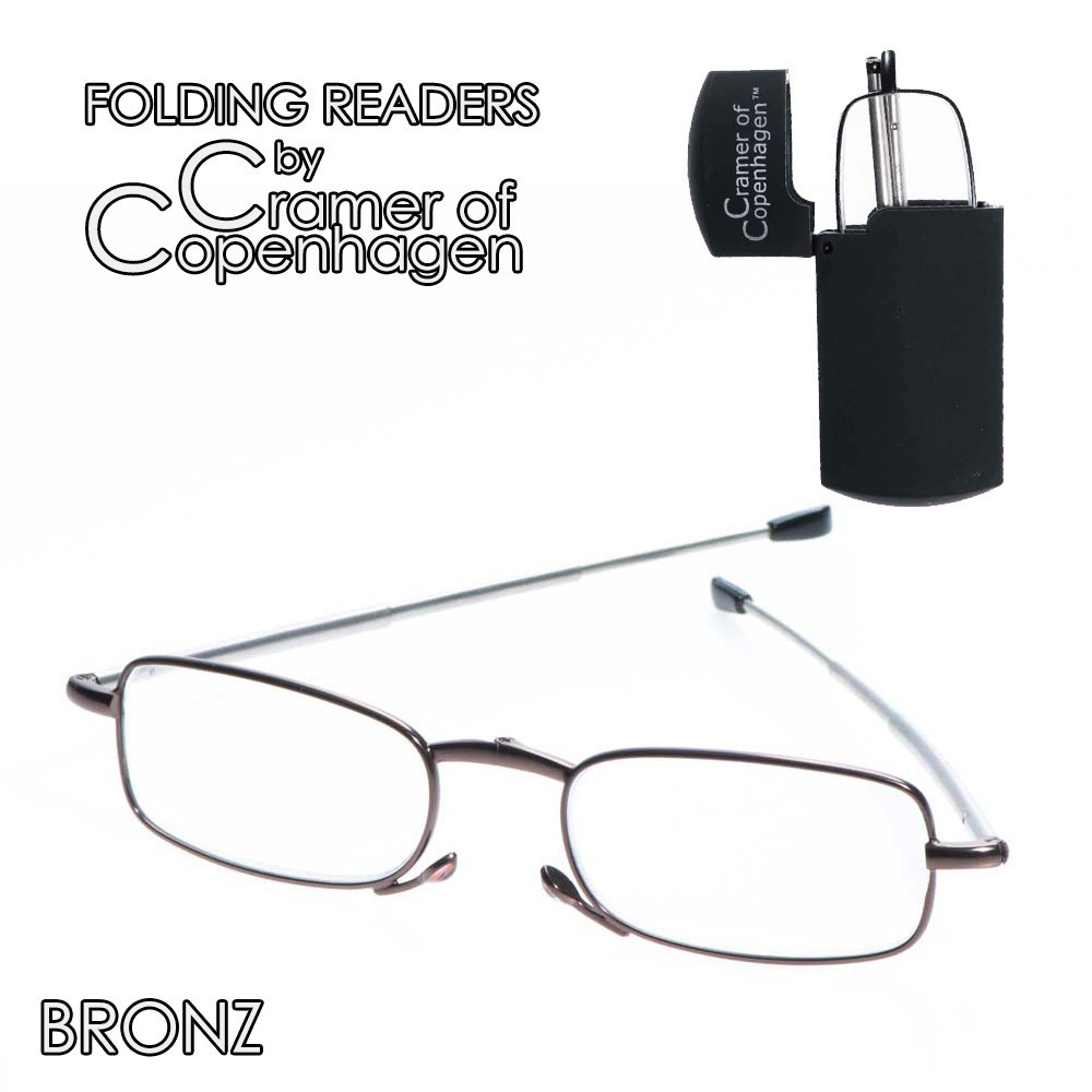 folding readers bronz