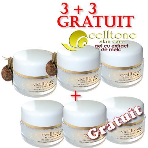 Celltone ➜ gel cu extract de melc pentru riduri ➜ 3+3 Gratis