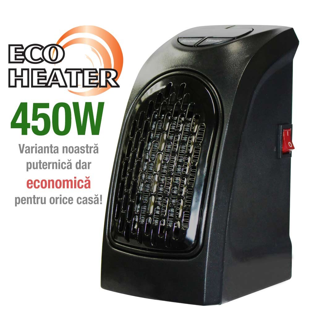 Eco Heater ➜ miniaparat portabil de incalzit camera 450W
