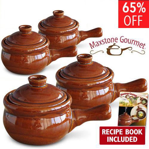 Maxstone Gourmet Cooker ➜ vase ceramice pentru gatit la microunde ➜  2+2 Gratuit