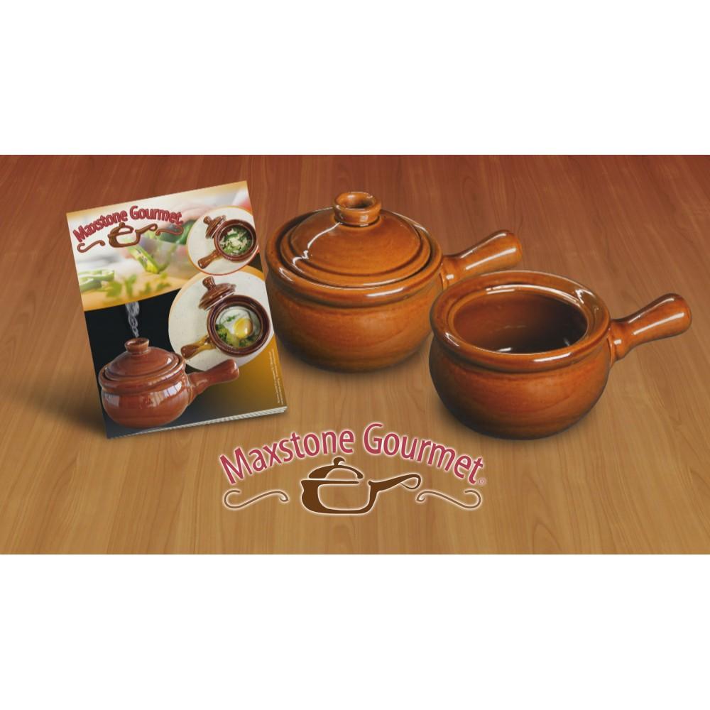 Maxstone Gourmet ➜ vase ceramice pentru gatit la microunde ➜ 1+1 Gratis