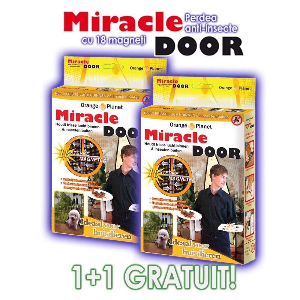 Miracle Door ➜ perdele anti-insecte ➜18 magneti ➜ 1+1 gratis
