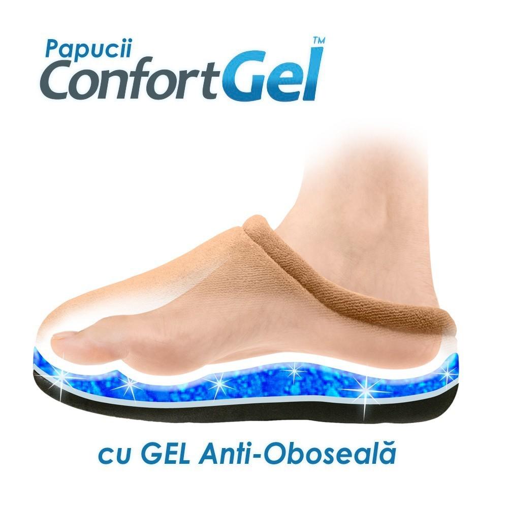 Papuci Confort Gel ➜ cu gel anti-oboseala