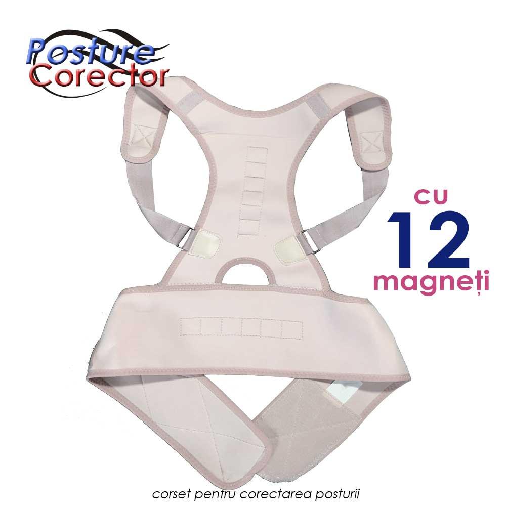 Posture Corector ➜ corset cu 12 magneti pentru postura corecta