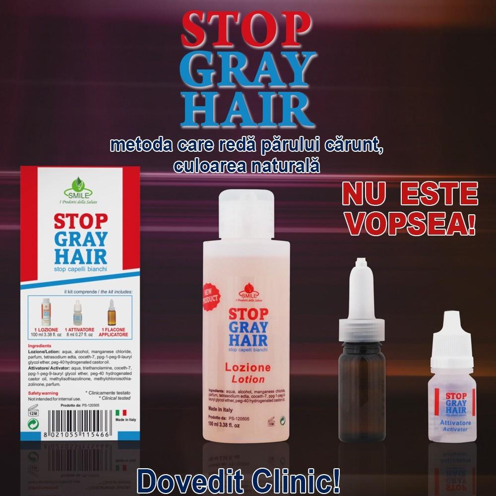 Stop Gray Hair - solutie ce reda culoarea naturala a parului